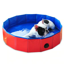 80 X 30cm Dog Cat Foldable Swimming Pool Bath Tub Portable Outdoor Home Washer