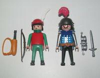 Playmobil Figurine Personnage Lot Robin des Bois & Chevalier + Accessoires NEW