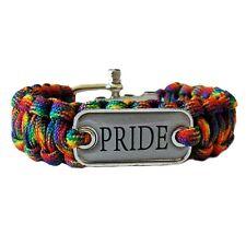 Gay Pride Paracord Bracelet PRIDE