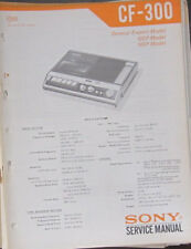 Sony CF-300 audio system service repair workshop manual (original copy)