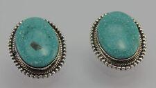 Vintage Clips Ohrhänger Silber 925er mit Türkis