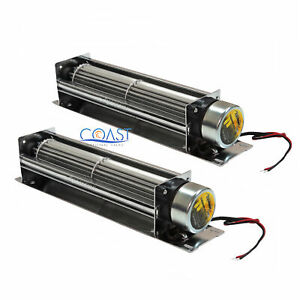 """2X Universal Large Cross-Flow 8"""" 12V Turbo Cooling Fan For Amplifiers /Amp TF8"""