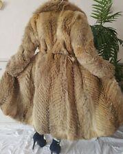 Pelzmantel Jacke FUR COAT Kojote Coyote Golden Island Fuchs Echtfell 40 42 lang