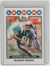 RANDY MOSS Patriots SIGNED 2008 Topps Football #293 Autograph ON CARD AUTO