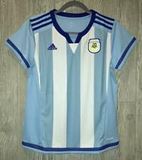 ADIDAS AFA Argentina 15/16 Home White Blue Soccer Jersey Shirt NEW Womens Sz XL