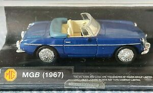 1967 MGB Converible by New Ray #48779 - 1/43 scale - Navy Blue Die-Cast