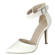 NEW Classic Women's Pointy Closed Toe Ankle Strap Pump Sandal Shoe Stiletto Heel