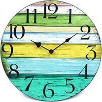"12"" Vintage Shabby Beach Weathered Beachy Boards Clock Nautical Decor Free Ship"