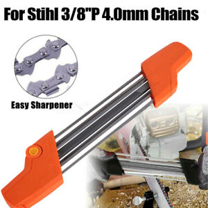 """2In1 Metal 5/32"""" File Chainsaw Chain Sharpener 0.325 Inch Fast Replace System"""