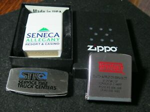 Zippo Lighter,2016 with box & Zippo Tape Measure & Pocket Knife, file and money