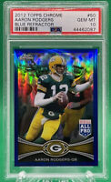 2012 Topps Chrome Aaron Rodgers Blue Refractor #50 (021/199) 🏦 PSA 10 🏦 POP 3