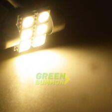 2X 31MM MULTI-COLOR 6 SMD 5050 LED Bulb for Car Festoon Dome Interior Lamp Light