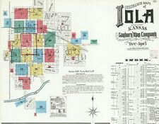 Iola, Kansas~Sanborn Map© sheets~ with 65 maps on a Cd in color~Pdf files