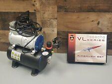 Air Brush Compressor AS186 & Paasche VL Series Airbrush Set