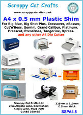 A4 Plastic Shims for Cardcraft & Die Cutting : SSPA4