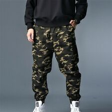 Men Harem Trousers Combat Camo Pants Army Military Sports Casual Loose