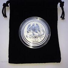 2016 Isle of Man Reverse Proof Angel 1 oz.999 Fine Silver Coin w/cap & pouch