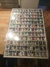 1980 Topps Hockey Uncut Sheet Ray Bourque Gretzky Mike Bossy Rookie