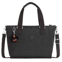kipling Basic Eyes Wide Open Amiel Medium Handbag Tasche True Black Schwarz Neu