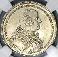 1765 NGC AU 50 Batthyani 1/2 Thaler Austria State Silver Coin POP 1/0 (19032002C