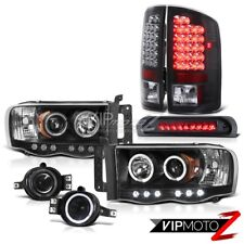 02-05 Dodge RAM 1500 Halo Projector Headlight+3rd Brake/LED Tail Lamp+Fog Light
