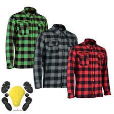 CE Armoured Motorbike Motorcycle Shirt Check Lumberjack Reinforced Men's Shirt