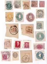 Stücke von Ganzsachen (keine richtigen Briefmarken !)