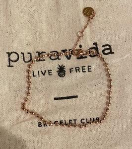 Pura Vida Rose Gold Mini Beaded Bracelet/ FAST FREE SHIPPING