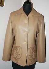 Women's Western Faux Leather Blazer Jacket Southwestern 8 EURO SZ 38 NEW!