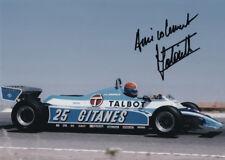 Jean-Pierre Jabouille-Ligier 1981, original autographe, signed photo