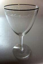 "Gorham Chanson Platinum WINE GLASS  5 1/4"" tall"