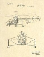 Sikorsky Helicopter Official US Patent Art Print - Vintage Antique Aviation 26