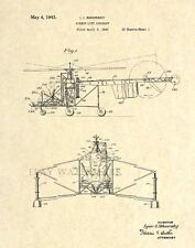 Official Sikorsky Helicopter US Patent Art Print - Vintage Antique Aviation 26