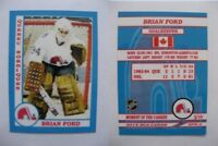 2015 SCA Brian Ford Quebec Nordiques goalie never issued produced #d/10