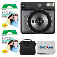 Fujifilm instax SQUARE SQ6 Instant Film Camera (Graphite Grey) + Instax 40