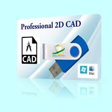Professional CAD Software AUTOCAD 2D CAD PC WINDOWS  XP VIsta 7 8 10 Mac OSX USB