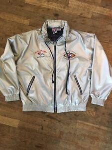 Vtg 1990s 90s Retro Metallic Silver Denver Broncos Super Bowl 32 Jacket Mens XL