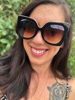 12 PAIRS WHOLESALE OVERSIZED WOMEN LARGE CAT EYE Sunglasses w/Oceanic Color Lens