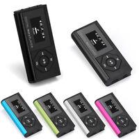 Mini Clip LCD Screen USB MP3 Music Media Player Support 16/32GB Micro SD TF Card