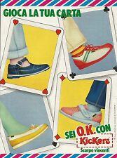 W5523 Scarpe vincenti KICKERS - Gioca la tua carta - Pubblicità 1984 - Advertis.