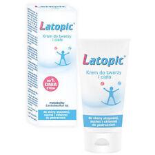 LATOPIC Creme für Gesicht und Körper, Emollient für atopische trockene Haut 75ml