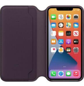 NEW IN BOX! Apple iPhone 11 Pro Max Leather Folio Aubergine