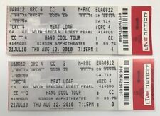 (2) MEAT LOAF 2010 Tour Concert TICKETS Los Angeles CA w/ Pearl Bat out of Hell