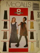MCCALL'S GIRLS DRESS OR JUMPER PATTERN 2426 SIZE CH 7,8,10