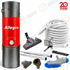 Allegro Central Vacuum 3,000 sq ft. MU4100 - 30' ft. Hose Air Package + Dust Mop