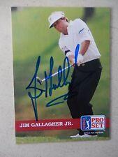 Jim Gallagher, Jr. Autographed 1992 Pro Set Golf Card