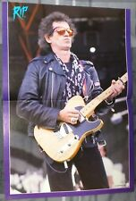 THE ROLLING STONES / KEITH RICHARDS 1980'S MAGAZINE CENTERFOLD PINUP +FREE DVD
