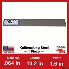 15N20 Carbon Steel Bar Billet - 1/16 in x 10.2