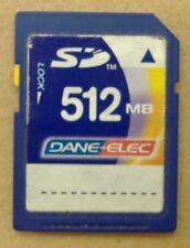 Dane-Elec SD-M512 512 MB 512MB SD Picture Photo Memory Flash Card USA Seller