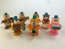 Vintage Tomy Wind Up Band - Pig Dog Lion Bear Cat Monkey Sax Drum Cymbal